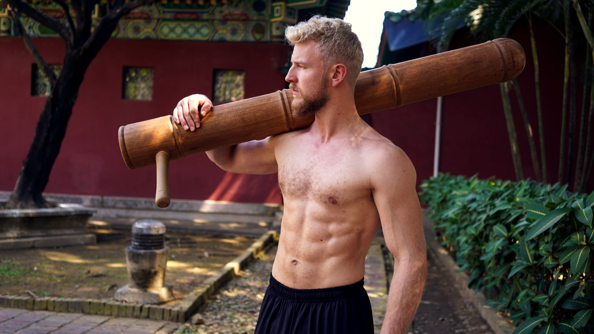 eero is carrying wood kung fu